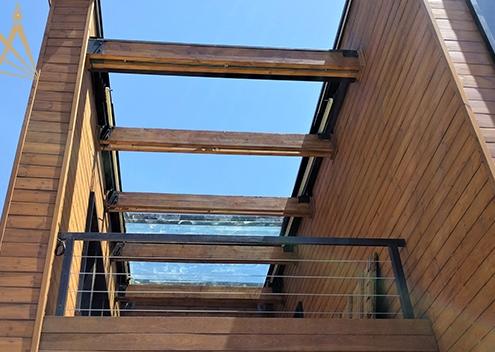 سقف متحرک بالکن آبسرد
