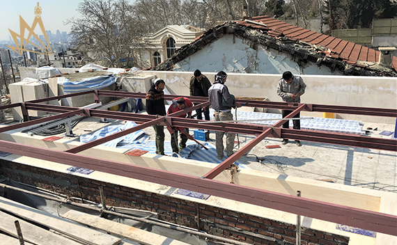 مراحل اجرای سقف متحرک برقی