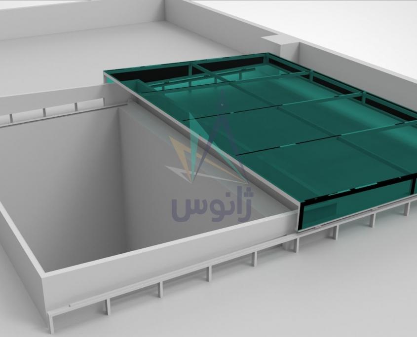 سقف برقی شیشه ای