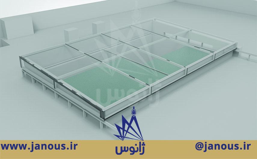 سقف متحرک شیشه ای ژانوس