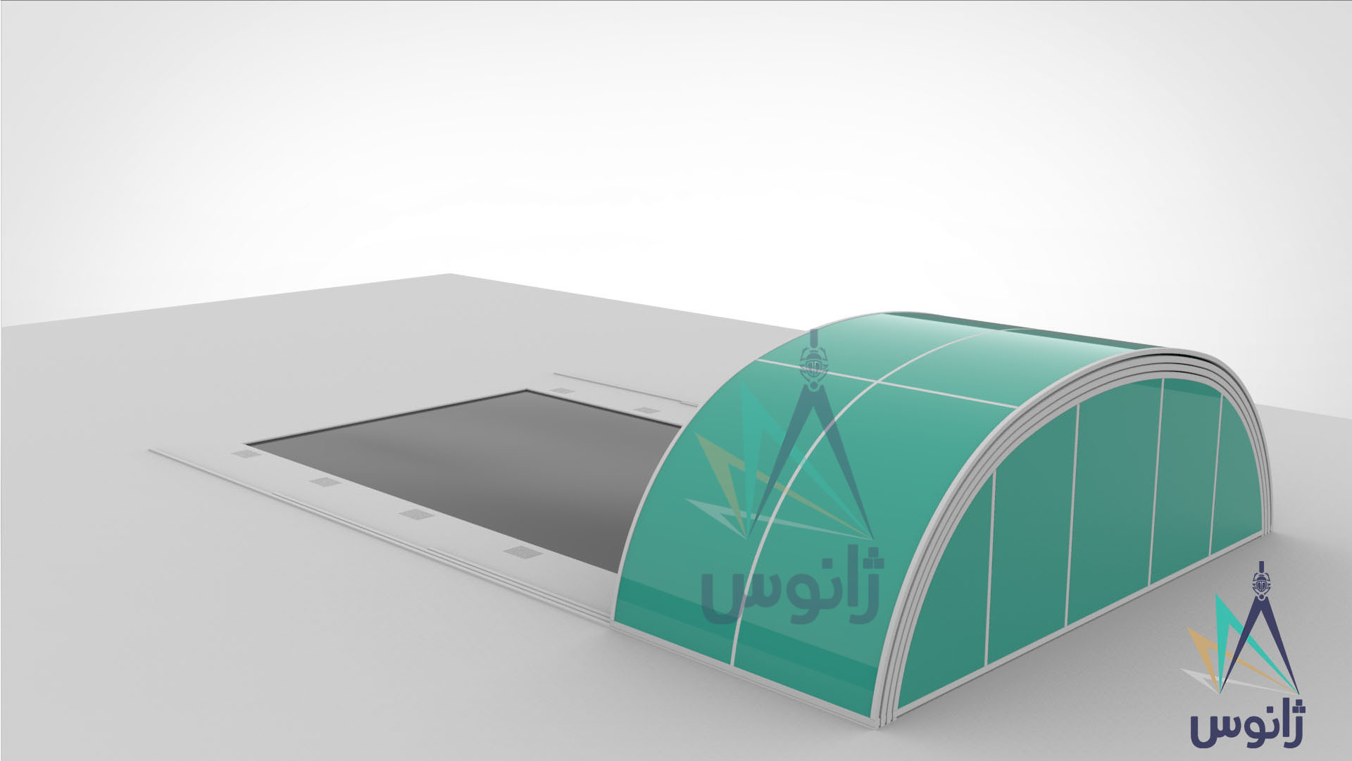 Removable roof polycarbonate Pool