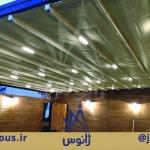 سقف متحرک پارچه ای کافه جمیرا