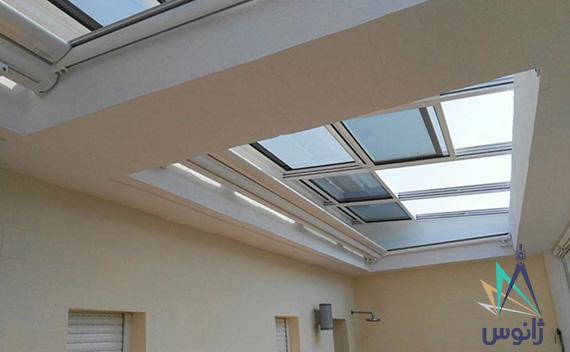 سقف متحرک برقی ساختمان