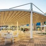 سقف متحرک تالار یا باغ رستوران