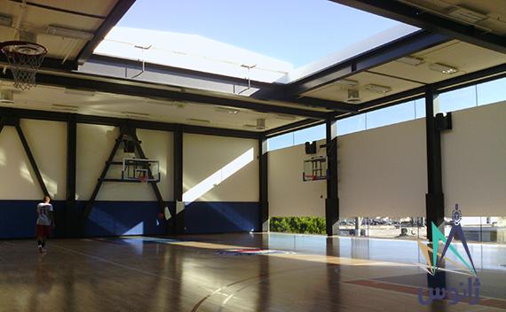 سقف متحرک مجموعه ورزشی