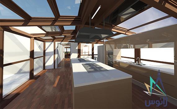 سقف برقی شیشه ای آشپزخانه