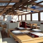 رستوران با سقف برقی