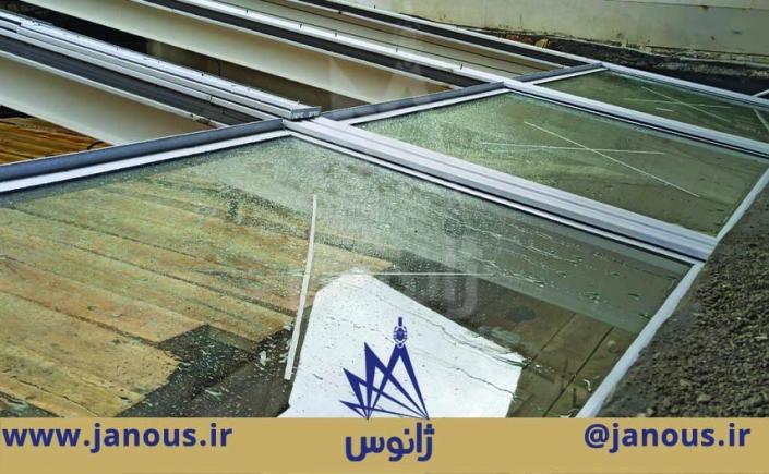 سقف متحرک شیشه ای اراک